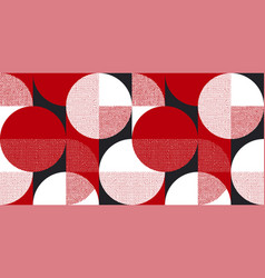 Red and black bauhaus style seamless pattern vector