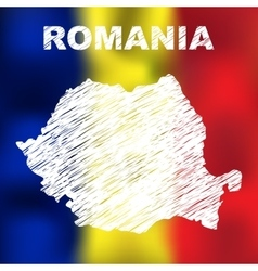 Romanian Abstract Map vector