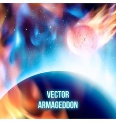 Scenic view of apocalypse vector