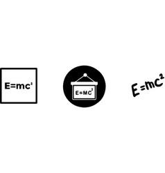 science physics atom molecule einstein form vector image