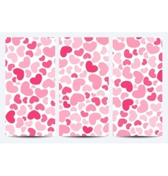 Set of flyers background with hearts vector