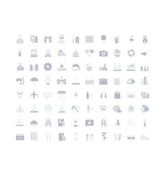 Set simple icons travel vector