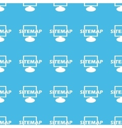Sitemap straight pattern vector