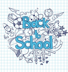 Sketch Back to School Background vector