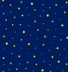 Stars golden seamless pattern vector