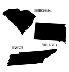 state silhouette collection vector image