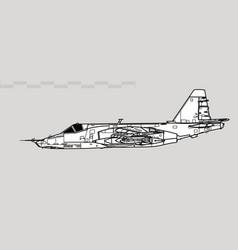 Sukhoi su-25 grach frogfoot vector