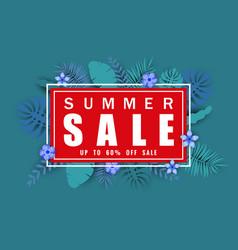 summer sale banner template for seasonal sales vector image