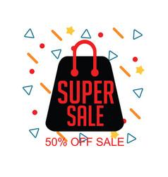 Super sale 50 off sale template design vector