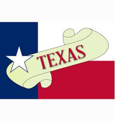 Texas scroll vector
