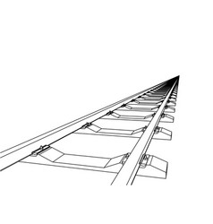 the railway going forward 3d vector image