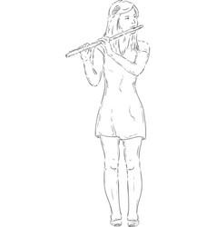 Transverse flute vector
