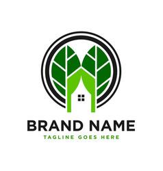 Tree house inspiration logo design vector