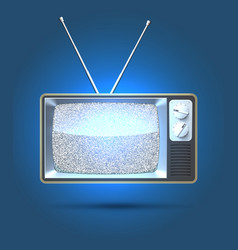 tv interference vector image