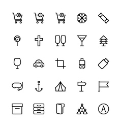 User interface colored line icons 15 vector