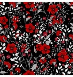 Vintage seamless floral pattern herbs vector
