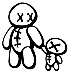 Voodoo doll parent vector