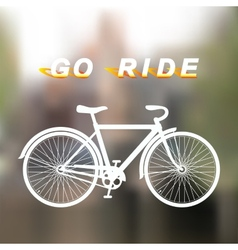 white bicycle vector image