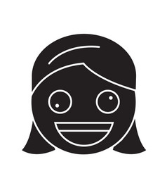 zany face emoji black concept icon zany vector image
