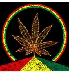 Cannabis-Marijuana-background vector image vector image