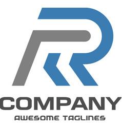 creative letter r logo vector image vector image