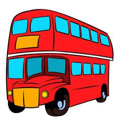 london double decker red bus icon cartoon vector image
