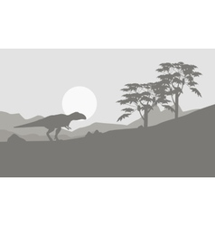 Mapusaurus on the hill scenery vector image vector image