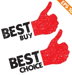 Stamp sticker best buy tag collection - - E vector image