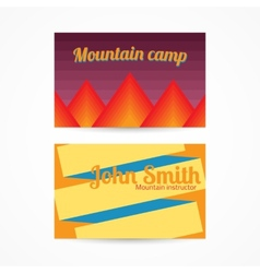 Template card with mountains vector image