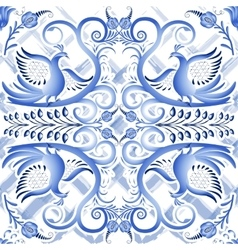 Blue seamless light pattern in ethnic style Gzhel vector image
