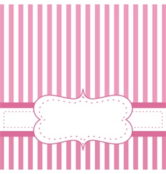 Pink card invitation for baby shower or wedding vector image