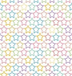 Seamless pastel star pattern background vector
