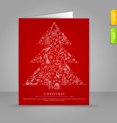 xmas card tree vector image