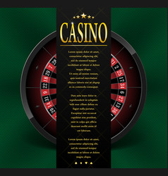 casino poster or flyer design casino banner vector image vector image
