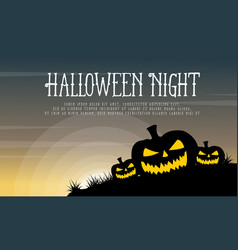 halloween with pumpkin background style vector image vector image
