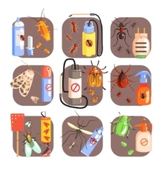 Pests And Measures For Their Extermination Set vector image vector image