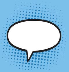 speech bubble in pop art comics style blue colors vector image