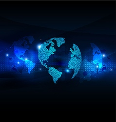World business communication and technology vector image vector image