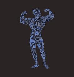 Bodybuilding business vector image vector image