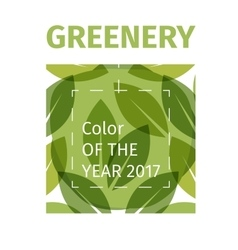 Color of the year 2017 Greenery beautiful trendy vector image