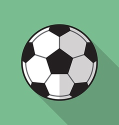 Football soccer ball flat icon vector image vector image