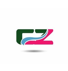 Letter c and z logo vector image