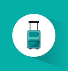 lugagge suitcase travel vacations vector image vector image