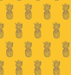 Pineapple Hand drawn sketch grunge outline vector image