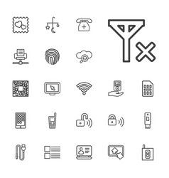 22 mobile icons vector