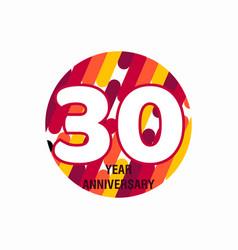 30 year anniversary purple template design vector
