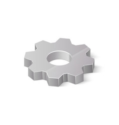 3d metal cogwheel isolated on white background vector image