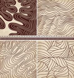 4 patterns set vector image