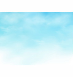 abstraction of realistic clouds on clear blue sky vector image
