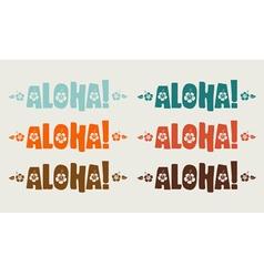 Aloha simple vector